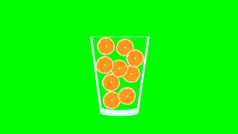 Fresh fruit cocktail animation Animación