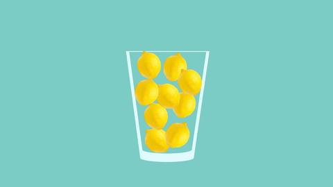 Fresh fruit cocktail animation Videos animados