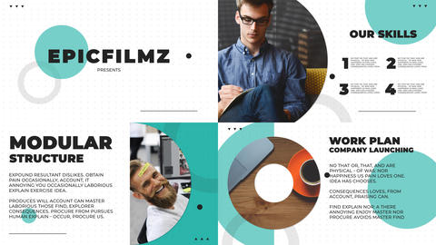Clean slides presentation After Effects Template