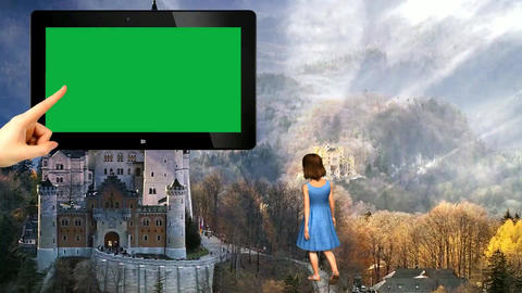 13 Template for travel with green screen and walking animated girl Animation