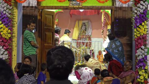 Devotees praying to Lord Shiva - Gajan festival Live Action