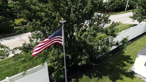 American Flag Waving Archivo