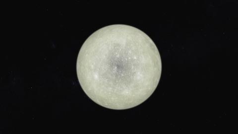 水星をズームする様子 CG動画