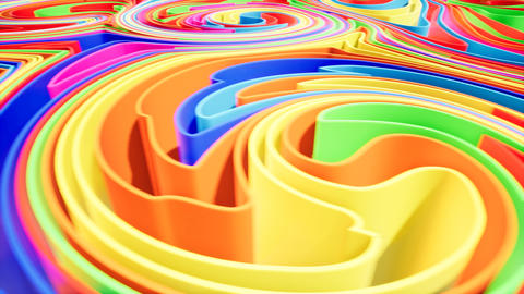 Colorful wave gradient animation.. Future geometric patterns motion background Footage