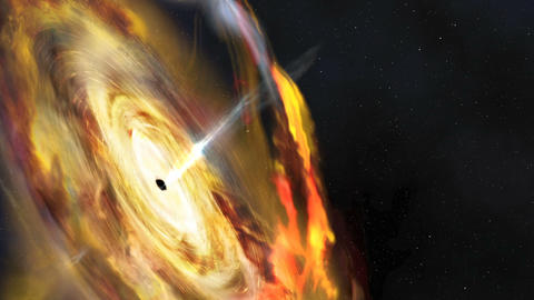 Black Hole Corona Animation