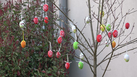 Easter decoration for garden and backyard. Happy easter Footage