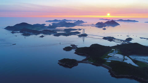 Sunrise and sunset in the archipelago Footage