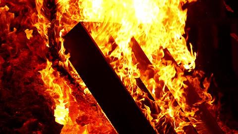 Flames of a bonfire.Slow Motion Archivo
