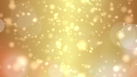 gold bokeh lights particles and starglow Animation