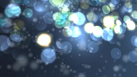 Blue, blurred, bokeh lights background. Abstract sparkles. Full HD Animation