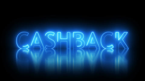Cashback text with visual effect of electricity and illumination, 3d rendering GIF