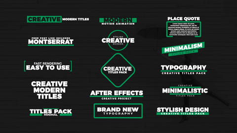 15 Stylish titles After Effects Template