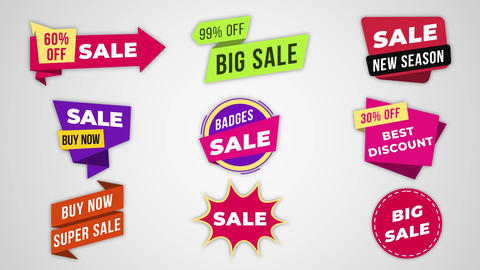 Sale Labels & Badges Motion Graphics Template
