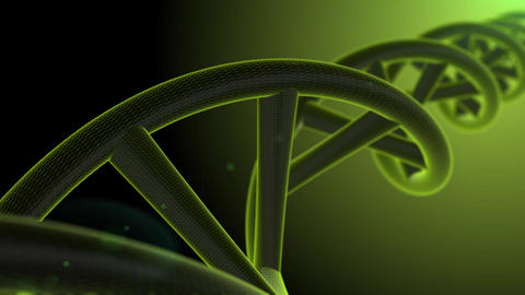 green dna animation with bokeh green background Animation