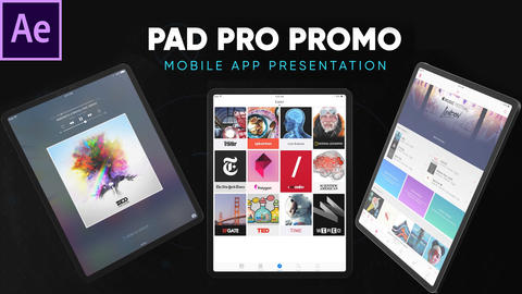 Pad Pro - App and Website Presentation After Effects Template