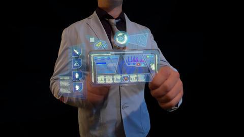 Futuristic screen Acción en vivo