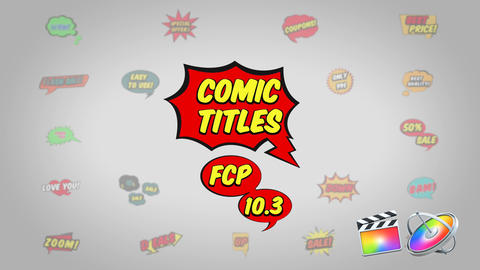 Comic Titles Plantilla de Apple Motion