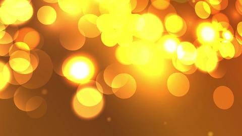 yellow orange background hexagonal lights bokeh Stock Video Footage