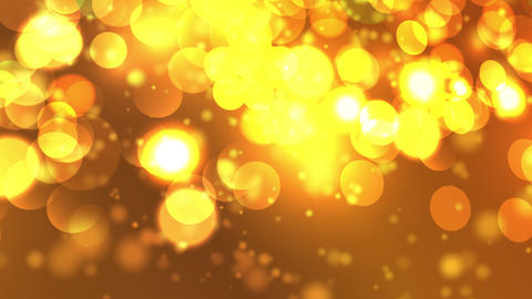 yellow orange background hexagonal lights bokeh Animation