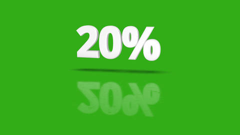 20 Green Sales Percent Animation 2