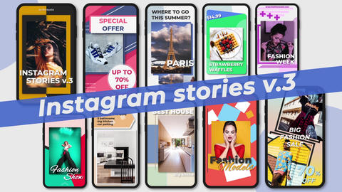 Instagram Stories v 3 After Effects Template