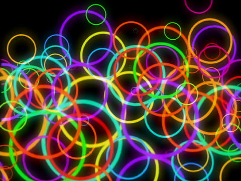 Multi Clr Circles Pulse Stock Video Footage