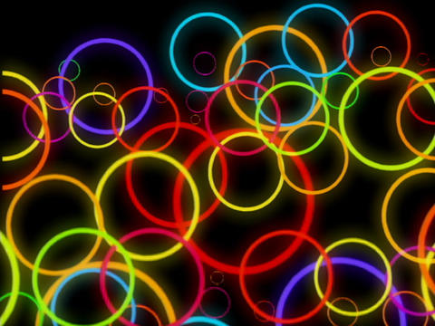 Multi Clr Circles Pulse Stock Video Footage