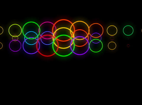 Multi Clr Rings traverse pls Stock Video Footage