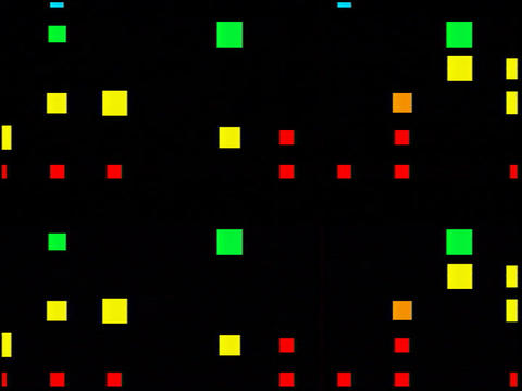 Multi Clr Squares Flash(L) Animation