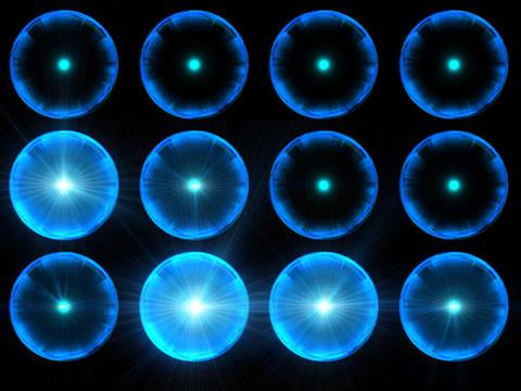 Trans Chrome Sphere blu2 Stock Video Footage