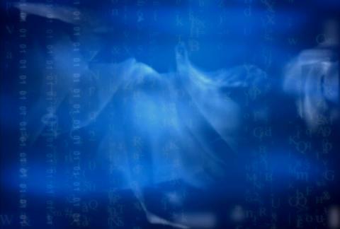 Blue fabric liquid tech(L) Stock Video Footage