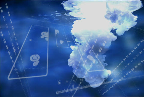 Blue Soft2 w te(L) Stock Video Footage