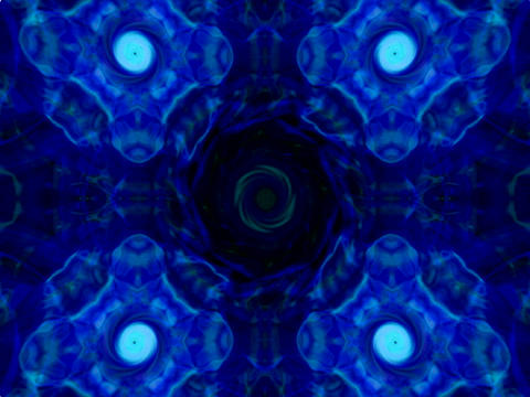 Electric Blue Mandala Stock Video Footage