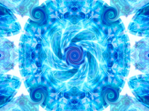 Electric Blue Mandala Animation