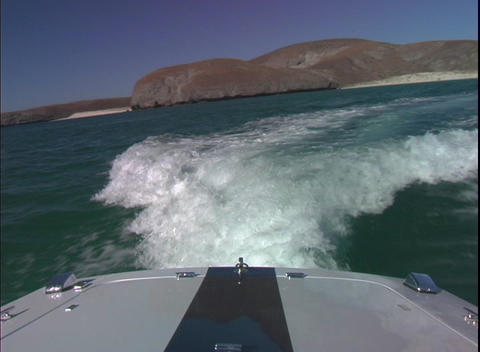 BackofBoat2 Stock Video Footage