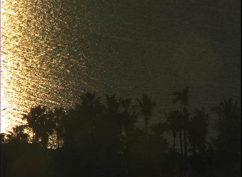 MexicoSunsetWater1 Stock Video Footage
