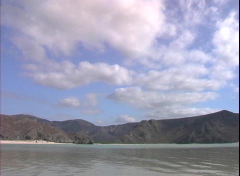 OceanLandClouds2 Stock Video Footage