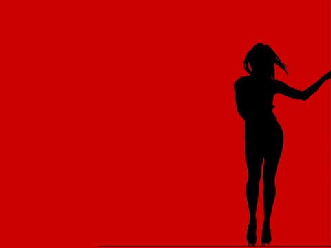 VJ Loops: Sexy Dance wide Loop1 Stock Video Footage