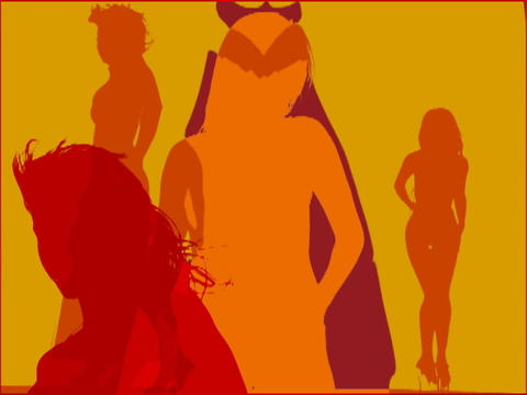 VJ Loops: GIRLS GIRLS GIRLS cut2 4 35 Stock Video Footage