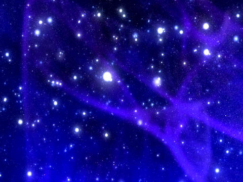 VJ Loops: Blue Star Aurora BG Stock Video Footage