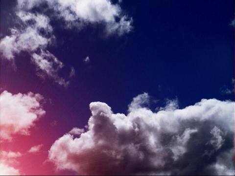 Sun Flare Red Purple over Sky(L) Stock Video Footage