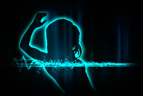 VJ Loops : Waveform Dancers DL 02 Stock Video Footage