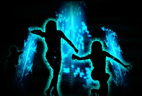 VJ Loops : Waveform Dancers DL 06 Animation