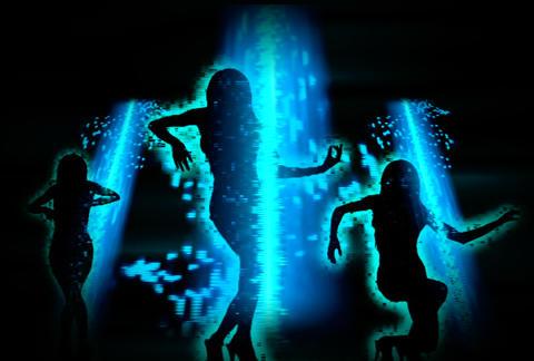 VJ Loops : Waveform Dancers DL 06 Stock Video Footage