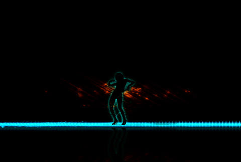 VJ Loops : Waveform Dancers DL 10 Animation