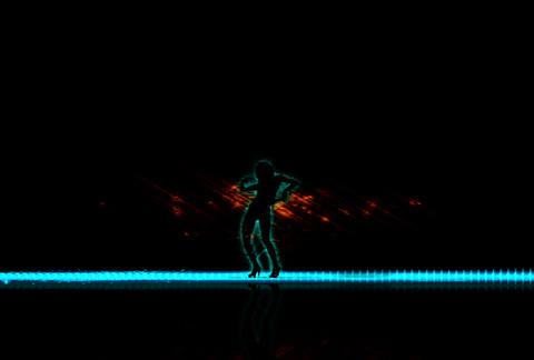 VJ Loops : Waveform Dancers DL 10 Stock Video Footage