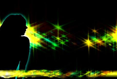 VJ Loops : Waveform Dancers DL 12 Stock Video Footage