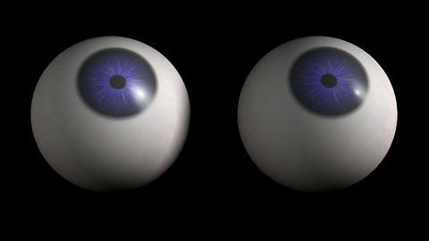 Eyebolls Rolling. Loop. CG. HD Animation