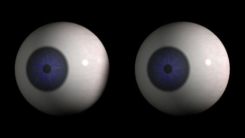 Eyebolls looking around. Loop. CG. HD Stock Video Footage