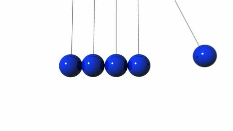 Newton's Cradle. Loop. CG. HD Stock Video Footage